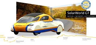 1001 Solarworld GT Ένα ηλιακό αυτοκίνητο το SolarWorld GT κάνει τον γύρο του κόσμου