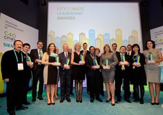 "c40 Oι 10 νικήτριες πόλεις των βραβείων ""C40 Cities Climate Leadership Group"""
