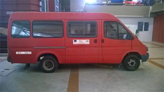 minibus Ημερίδα για την παρουσίαση Ηλεκτρικού Ερευνητικού Οχήματος στο Πολυτεχνείο